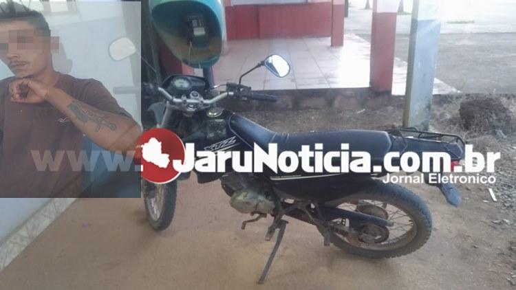 Moto furtada da prefeitura de Machadinho do Oeste é recuperada pela PM