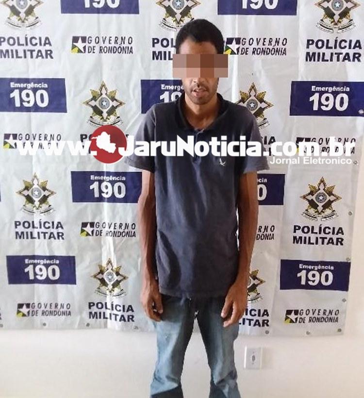 JARU: Policia Militar Prende homem de tornozeleira eletrônica, furtando fios de cobre