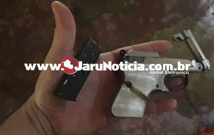 Um belo trabalho da Policia Militar de Machadinho localiza arma de fogo após suspeito postar foto em rede social