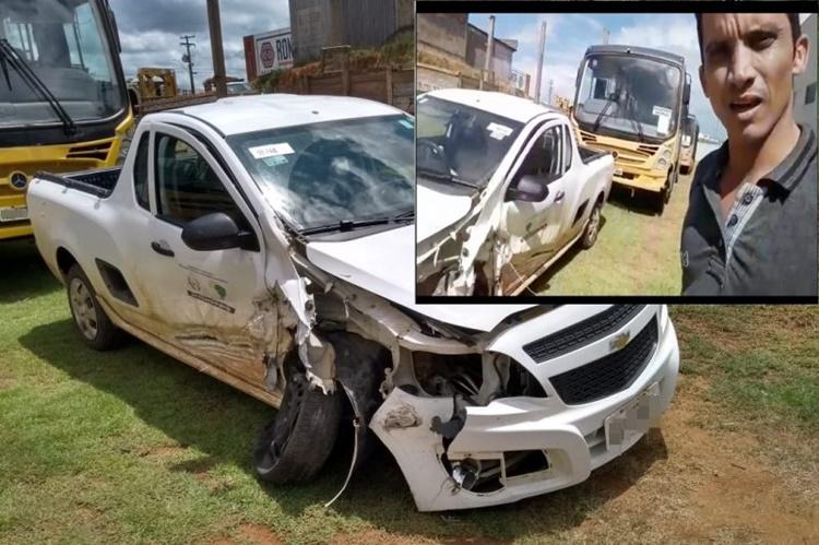 Vereador faz vídeo cobrando explicações sobre acidente com veiculo oficial da prefeitura de Theobroma
