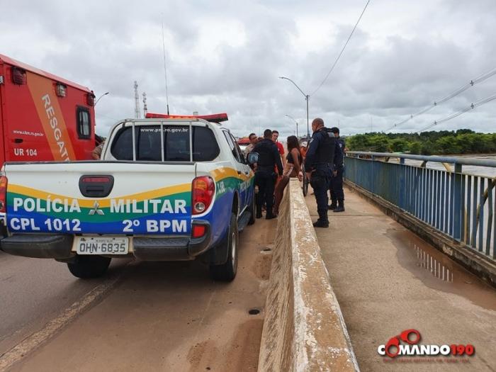 Garotas ameaçam pular da ponte do Rio Machado e mobilizam grande aparato das forças de segurança de Ji-Paraná – VIDEO