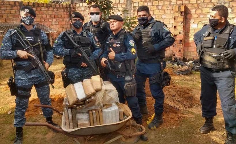 Policia Militar apreende mais de 60 quilos de droga na Capital