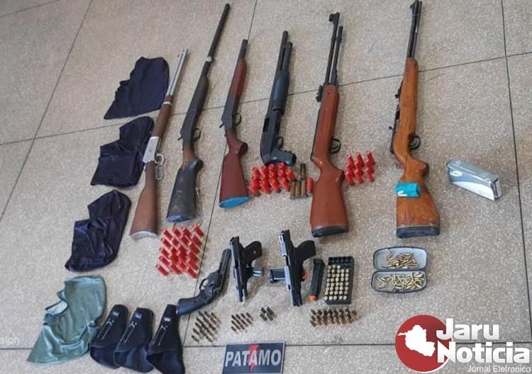 Arsenal e mais de cem munições são apreendidos pela PM em Distrito no interior de Rondônia