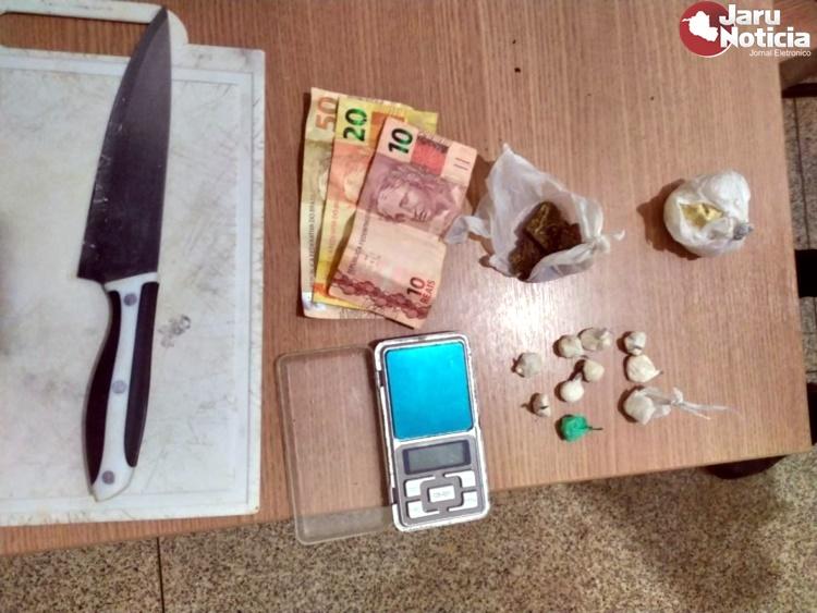 Homem de 26 anos é preso pela Polícia Militar por tráfico de drogas em Jaru