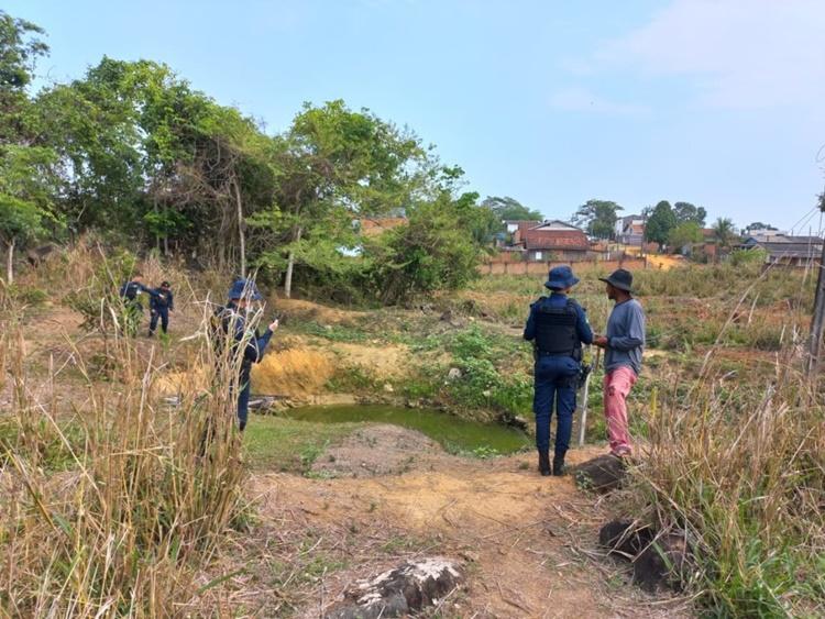 Corpo é localizado nos fundos de um laticínio no setor 07 em Jaru, RO
